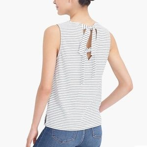 J. Crew Striped Tie Back Cotton Tank Top Medium